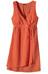 Patagonia W's Island Hemp Crossover Dress Chambray Stripe: Turkish Red
